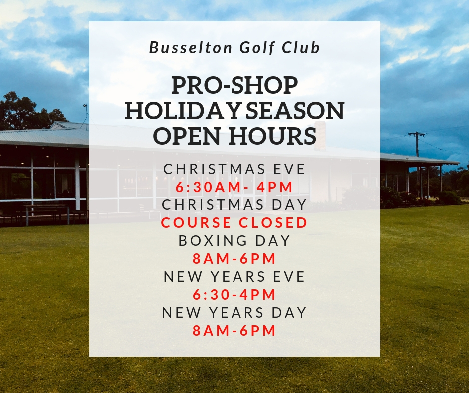 Christmas Proshop open hours